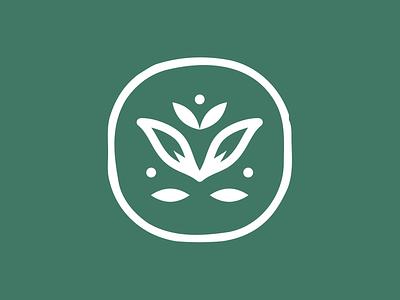 Serille's Flower Shop lotus leaves minimal cute bloom floral feminine nature brand identity logo icon flower