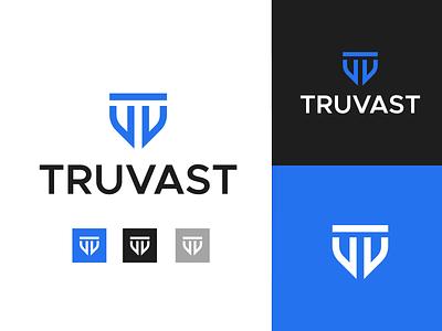 Truvast brand identity abstract minimal logotype monogram vt tv letter v logo letter v identity icon brand logo