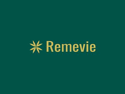 Remevie ux vector branding illustration logo abstract logo icon symbol minimal typography art hemp cannabis brand identity logo icon