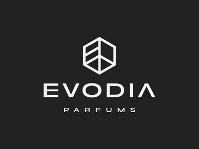 Evodia luxury smell feminine minimal abstract brand identity logo icon logo design perfume
