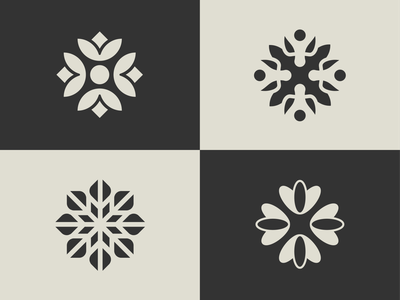 Flower Icons natural supplements spa feminine brand identity flower icon flowers
