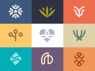 Logo Collection colorful design abstract logo logo collection flower icon