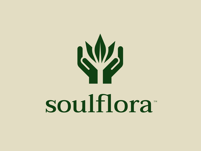 SoulFlora abstract brand identity logo design pride lgbtq pray hands flower weed cannabis