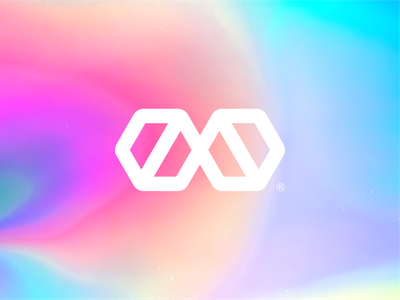 M Y R I A brand identity logo design gradient cool infinite infinity letter m