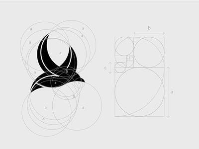 GOLDEN RATIO BIRD animal minimal cute grid logo design brand identity ration golden bird goldenratio
