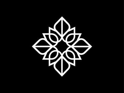 Flower Icon leaves nature beauty mandala design grid brand identity logo icon petal flower