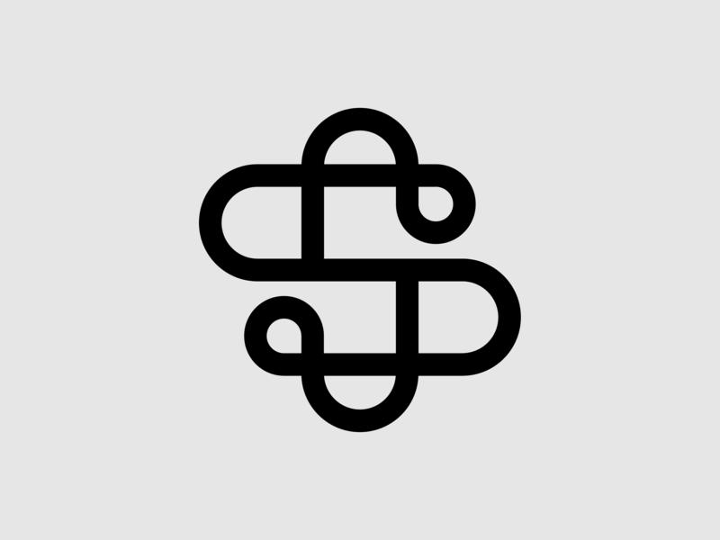 Letter S Icon real estate company design logo grid abstract minimal design logo grid brand identity letter s icon