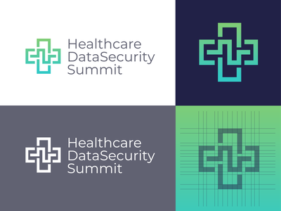 Healthcare DataSecurity Summit. cute grid minimal company design icon soundwave abstract minimal grid brand identity logo icon medical health healthcare