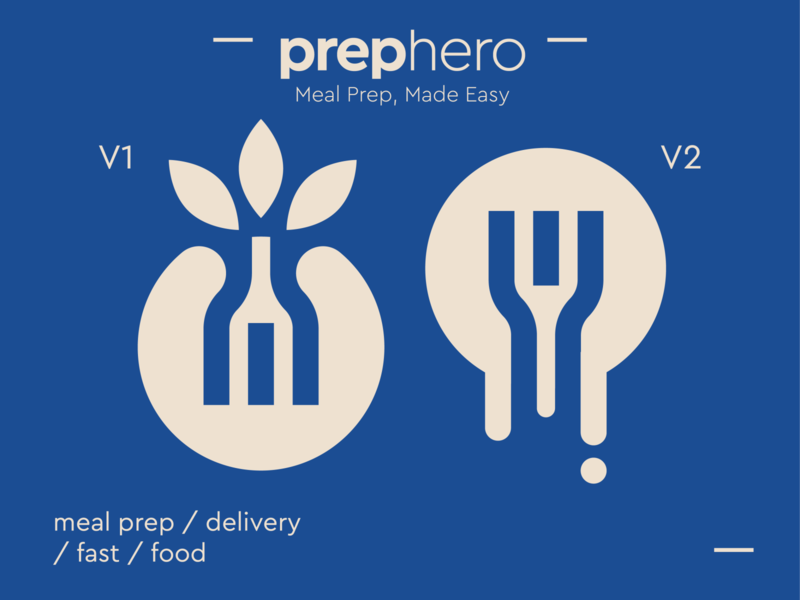 PREPHERO™ Concepts speechbubble speech meal speed fast delivery healthy nature leaves fork food concept logo icon