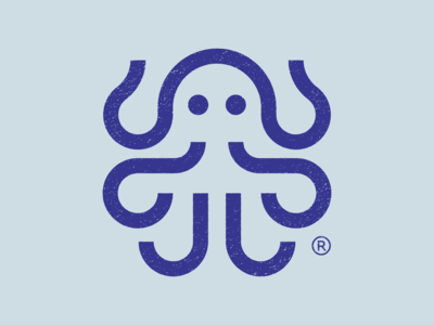 Octopus abstract nature brand identity logo icon water animal octopus