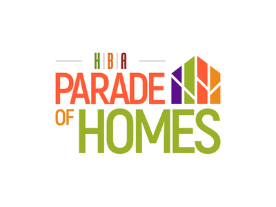 Parade of Homes Logo colorful fun clean map layout luxurious luxury outdoor parade house logo