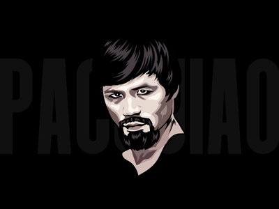 Manny Pacuiao Illustration boxer cartoon graphics vector adobe illustrator pacquiao manny pacman boxing design illustration