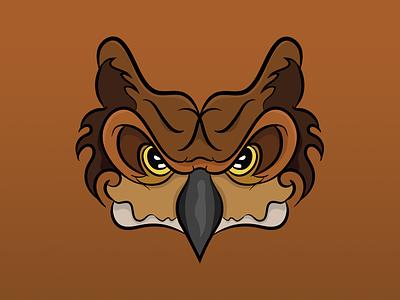 Evil Owl brand symetry owl logo