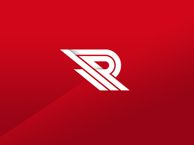 Alternate Reinforce Logo letter r retail clean bold movement action sports identity design shoes logo
