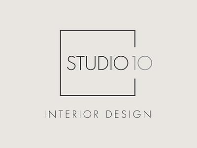 Studio 10 Logo interior design logo studio logo studio minimal interior interiordesign logo design branding denver colorado logo