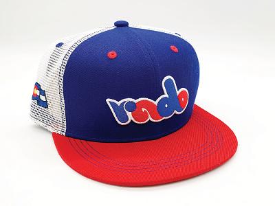 Rado Logo and Hat retro flag colorado action baseball cap baseball logo sports puff logo custom hat