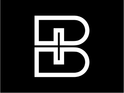 Black Insurance Logo negative space cross letter health care symbol logomark b bold insurance health insurance health health cross health logo logo