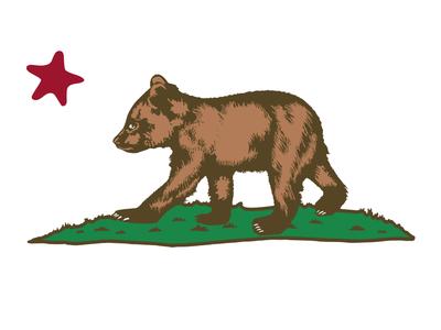 California Cub star logo illustration onesies bibs flag bear cub apparel state california cali