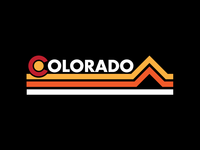 Retro Colorado Stripes