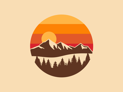 Outdoor Sunset Badge