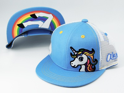 Kids Unicorn Flatbill Hat logo design baseball hat apparel logo underbill unicorn logo unicorn apparel apparel design hat kids