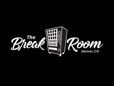 The Break Room Logo colorado denver room break vending machine apparel design break room
