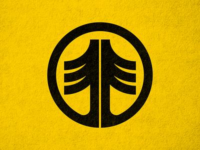 Tree Logomark negative-space thicklines nature circle logo tree