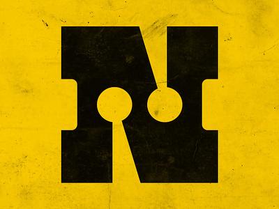 Old School N modernism oldschool typography n logodesign icon logomark logo