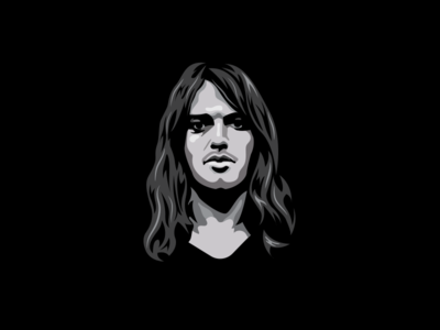 David Gilmour Illustration vectorart illustration illustrator gilmour davidgilmour blackandwhite black pink floyd
