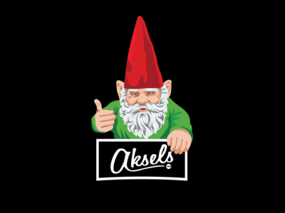 Aksels Gnome apparel logo illustration illustrator gnome aksels