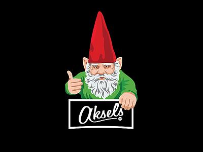Aksels Gnome apparel logo illustration illustrator gnome aksels