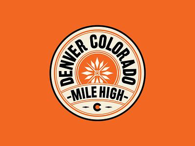 Denver Badge Design snowflake patch design badgedesign branding mountain illustration logo badge design patch badge colorado denver