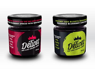 Blueberry Spread Branding