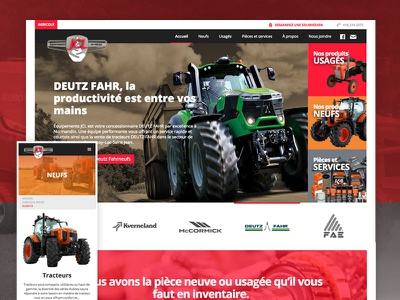 Tractor reseller and repair website normandin quebec lac-saint-jean alma agency branding design webflow