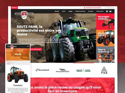 Tractor reseller and repair website