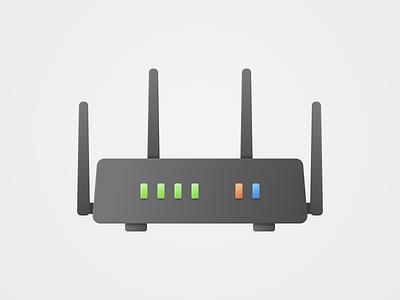 Router Dark gaming hardware vector dark mode dark router