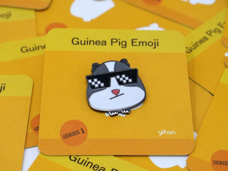 Guinea Pig Emoji Premium Enamel Pin - Boss, Enamel Pin enamel pin enamelpin emoji
