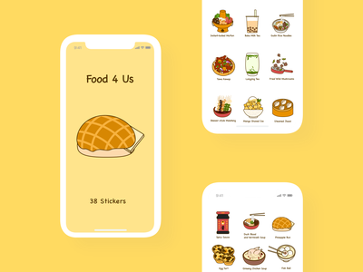 Food 4 Us - iMessage Stickers yummy imessage imessage stickers stickers food food stickers