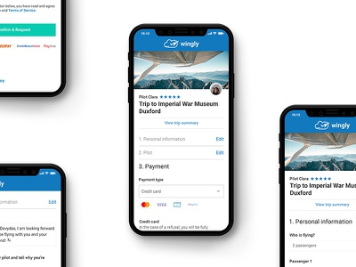 Checkout page visual concept iphonex uidesign webdesign web interface ui checkout wingly