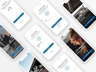 Pilot app onboarding pilot interface uidesign ui iphonex wingly onboarding