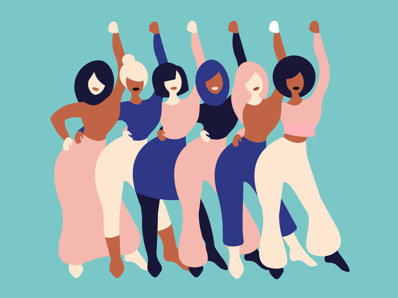 WE ensemble femmes mujeres internationalwomensday flat design woman minimalism adobe illustrator graphic design illustration woman illustration