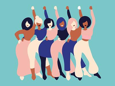 WE ensemble femmes mujeres internationalwomensday flat design woman minimalism adobe illustrator graphic design illustration woman illustration