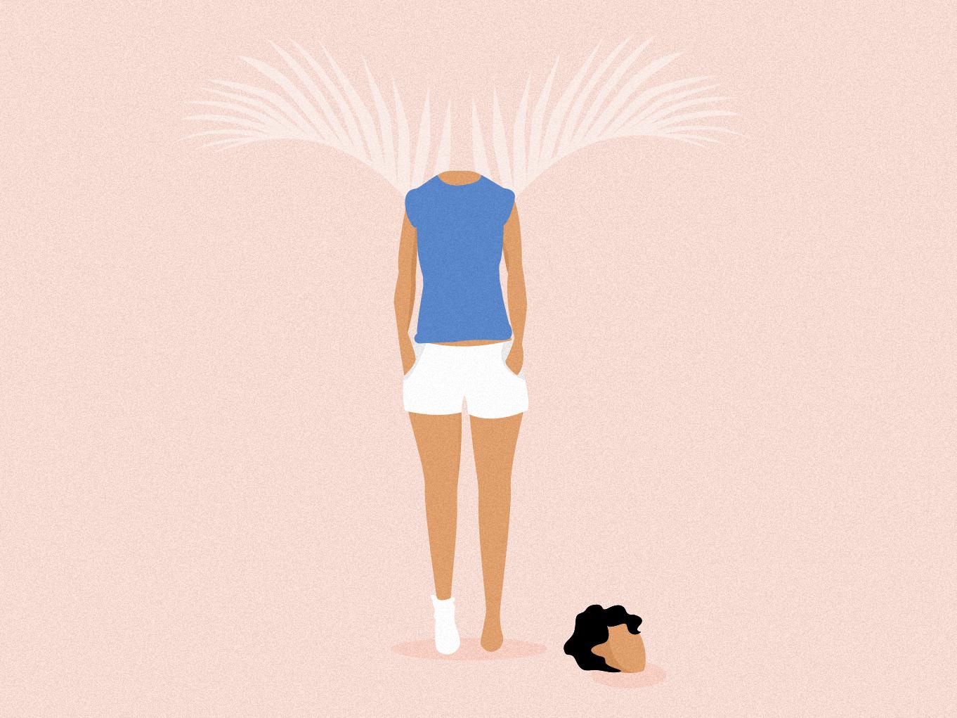 Feelings woman illustration wings artist art graphic design poetry illustration