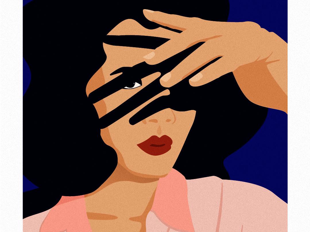Light & Shadow inspiration adobe woman illustration night silence graphic design artist illustration art illustration