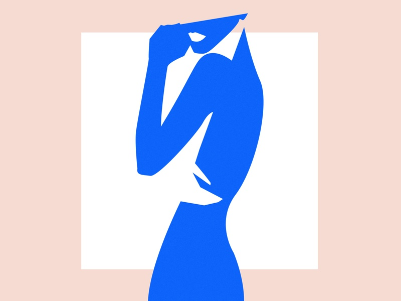 In the mood for Blue blue nude abstract matisse silhouette minimalism graphism artist inspiration art graphic design woman illustration illustration