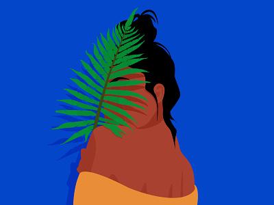 Wild by nature wild nature woman flat minimalism adobe illustrator graphic design woman illustration illustration