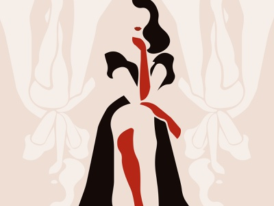 Queen of heart queen lady of heart heart card game woman inspiration art minimalism adobe illustrator design graphic design illustration woman illustration
