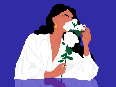Mrs Dalloway romantic dalloway flowers art design flat woman inspiration minimalism adobe illustrator graphic design woman illustration illustration