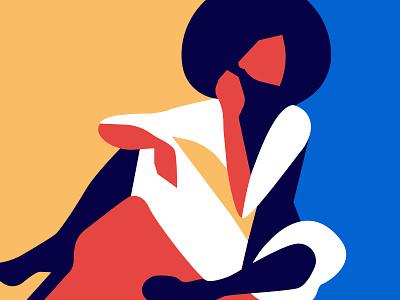 Funky lady funky and fresh fashion design woman inspiration minimalism adobe illustrator illustration graphic design woman illustration