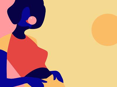 Hey chewing gum teenage style attitude rebel so what woman art inspiration minimalism adobe illustrator graphic design illustration woman illustration